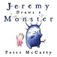 Great activity to go with Peter McCarty's Jeremy Draws a Monster book! From the we heart art blog: drawing (nice) organic shape MONSTERS! Of course, this lesson wouldn't be complete without sharing Harold and the Purple Crayon.