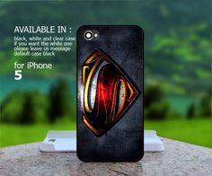 AJ 587 Superman Man Of Steel Logo - iPhone 5 Case | BestCover - Accessories on ArtFire