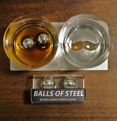 The OriginalBOS Father's Day Gift Set will keep dads favorite drink cool and his heart warm. This cause fighting gift set gives 15% of proceeds directly towards Testicular Cancer Cure research. Each set includes Balls of Steel Chillers which cool spirits to the perfect sipping temperature without diluting flavors or aromas, 2 break resistant crystal Whiskey Glasses, and a pair of steel Bottle Opening Coasters. Give dad the unforgettable gift he deserves this Father's Day!