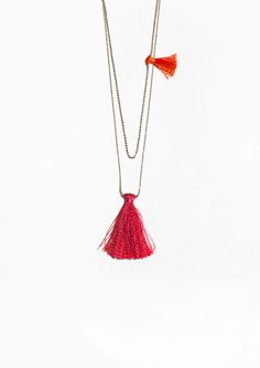 & Other Stories | Two Tassels Necklace.