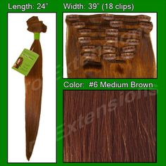 #6 Medium Brown - 24 inch REMI