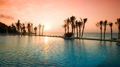 Infinity pool at the Royal Hideaway Playacar, Mexico
