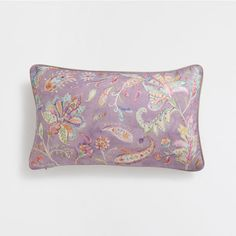 ???ItxProductPage.image.alt.nonumber??? LILAC PRINTED LINEN CUSHION COVER