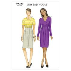 BuyVogue Women's Dress Sewing Pattern, 9023, B5 Online at johnlewis.com