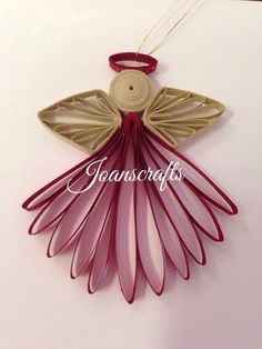 Small Quilled Angel Ornament by joanscrafts on Etsy