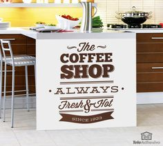 Vinilo decorativo The Coffee Shop - Always Fresh & Hot