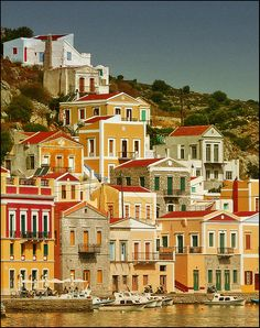 🇬🇷 The picturesque island of Symi, Dodecanese, Greece Places Around The World, Oh The Places You'll Go, Travel Around The World, Places To Travel, Places To Visit, Around The Worlds, Travel Destinations, Santorini, Mykonos Greece
