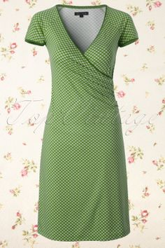 King Louie - 50s Bardot Cross Dress in Green and White