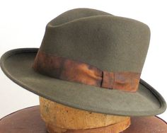 Mens Felt Fedora Hat Mad Men Winter Accessories by katarinacouture, $150.00