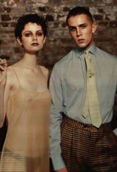 Backstage Broadway 1996 L'Uomo Vogue photos by Michael Comte fashion editor Marco Reati
