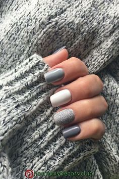 Pin by Lisa Firle on Nageldesign - Nail Art - Nagellack - Nail Polish - Nailart . - Pin by Lisa Firle on Nageldesign - Nail Art - Nagellack - Nail Polish - Nailart - Nails in 2020 Classy Nails, Stylish Nails, Trendy Nails 2019, Elegant Nails, Cute Acrylic Nails, Acrylic Nail Designs, Winter Acrylic Nails, Short Nails Art, Winter Nail Art