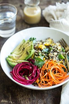 Summer Glow Buddha Bowl - If I could live off of one thing, I'm pretty sure it would be some kind of plant-based bowl.