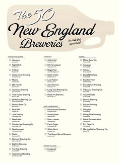 The 50 New England Breweries to Visit This Summer. this is for Jamie New England States, New England Fall, New England Travel, Solo Travel Tips, Travel Things, East Coast Road Trip, Single Travel, Road Trippin, Beach Trip
