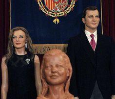 El Museo de Cera de Madrid se adapta a los nuevos Reyes #FelipeVI #realeza #royalty