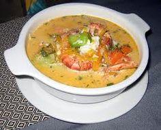 Peruvian food,Chupe de Camaron.
