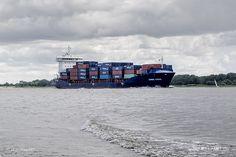"""Feederschiff """"CONMAR"""" - IMO 9483358 // #HamburgerHafen #Hamburg #Schiffe #Containerschiff #Feederschiff #Hafen #Conmar / gepinnt von www.MeerART.de"""