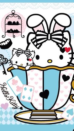 Cute Hello Kitty Wallpapers for Mobile - Cute Wallpapers Sanrio Wallpaper, Hello Kitty Wallpaper, Kawaii Wallpaper, Mobile Wallpaper, Hello Kitty Art, Sanrio Hello Kitty, Hello Kitty Imagenes, Hello Kitty Pictures, Miss Kitty