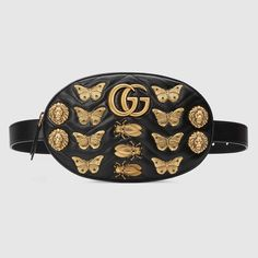04142439ed8f GG Marmont animal studs leather belt bag Leather Bum Bags, Leather Fanny  Pack, Real