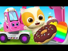 Excavadora Cava Los Dulces   Canciones Infantiles   BabyBus Español - YouTube Car Nursery, Nursery Rhymes, Kids Songs, Janie And Jack, Police Cars, Fire Trucks, Pikachu, Yummy Food, Youtube