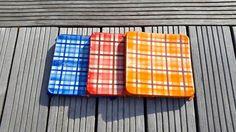 3 Antique French Enamel Trivet / Hot pads/ scottish by BrocBalk