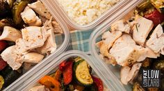 Grilled Chicken Veggie Bowls, a gluten free recipe to do meal prep right with these quick tips and tricks from Low Fat Low Carb. Read here to get started! Low Carb Recipes, Cooking Recipes, Healthy Recipes, Healthy Options, Food Network Barefoot Contessa, Chicken Recipes Food Network, Veggie Bowl Recipe, Low Fat Low Carb, Paleo Meal Plan