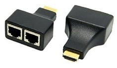 HDMI To Dual Port RJ45 Network Cable Extender Over by Cat 5e / 6 1080p F3, review and buy in Cairo, Alexandria and rest of Egypt | Souq.com