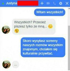 #wattpad #losowo Kolejna książka z memami (bo w końcu jest tu ich tak mało) Ostrzeżenie! Występuje czarny humor. Jeżeli masz problem z tym że są memy z depresją, ciemno skórymi itp nie zaglądaj. Informacja została dodana z powodu niektórych czytelników. Funny Sms, Funny Text Messages, Wtf Funny, Funny Cute, Funny Texts, Really Funny, Polish Memes, Weekend Humor, Pranks