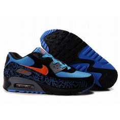 Nike Air Max 90 Blue Black Red , Price: $68.99 - Ken Griffey Shoes