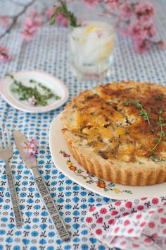 Shiitake Mushroom Quiche with Herbed Gluten-Free Crust {Via Cooking Melangery}