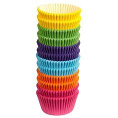 Papír. peč. košíčky na cupcakes jednobarevné - směs 300 ks