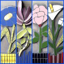 Resultado de imagem para flores con mosaicos