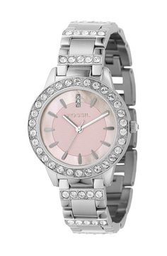 Oh! Pink and sparkles!!  Fossil Crystal Top Watch available at #Nordstrom
