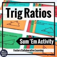 This is my entire unit plan for Right Triangles in high school geometry. There are notes, activities, quizzes, and tests listed. It is so helpful for teachers to see a sample unit plan! Teaching Geometry, Teaching Math, Teaching Ideas, Math Lesson Plans, Math Lessons, Math Resources, Math Activities, Radical Expressions, Right Triangle