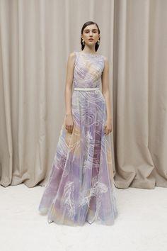Sandra Mansour Spring/Summer 2018 Ready To Wear | British Vogue dress pastel