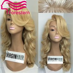 176.50$  Buy here - http://alicyp.worldwells.pw/go.php?t=32306966787 - High Quality 613 Blonde SIlk Base Full Lace Wig Glueless Lace Front Wig  Silk Top Human Hair Wigs With Side Bangs Free shipping