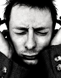 Thom Yorke (1968) - English musician, singer, and songwriter. He is the lead vocalist, lyricist, principal songwriter, guitarist and pianist of the bands Radiohead and Atoms for Peace, known for his falsetto singing style. Photo by Rankin