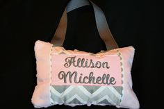 Door pillow - custom fabrics and font