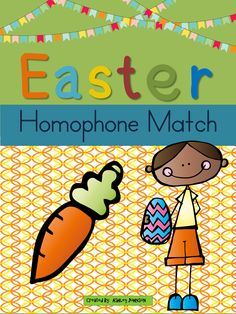 This Easter Homophone match is a great activity for whole or small groups and literacy centers.  $