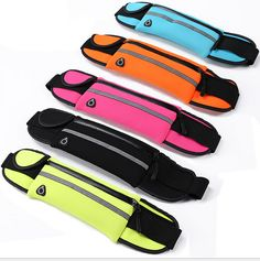 50PCS Sports Waist Bag Running Bicycling Use Multifunction Bag For Cellphone Cards Earphone Storage Waterproof Outdoor #Affiliate