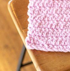 Easy Crochet Baby Blanket - EasyCrochet.com Crochet Baby Blanket Beginner, Crochet Baby Blanket Free Pattern, Beginner Crochet Projects, Crochet Patterns, Crochet Ideas, Fast Crochet, C2c Crochet, Blanket Yarn, Single Crochet Stitch