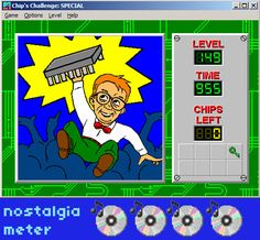 Chip's Challenge | PC Games You Haven't Seen Since 1995 Play Doom, 90s Games, Things That Bounce, Things To Come, Special Games, Give It To Me, Bring It On, How High Are You, Age Of Empires