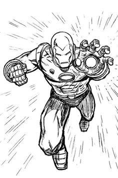 Iron Man Coloring Pages  ironman mark06 iron man coloring book