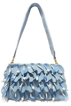 3e0b616011e Miu Miu - Swimming embellished appliquéd leather shoulder bag