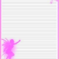 Pink Fairy Stationary- check out www.freeprintable... for more free printable content. You can print directly from your home computer/printer. You can find greeting cards, birthday cards, invitations, calendars, school activities, school worksheets, coloring pages, quotes, and much more!