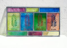 Stained glass  Seasons  Spring Summer by TuulaGiraldoArtGlass