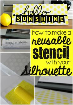 Ginger Snap Crafts: How to Make a Reusable Stencil with your Silhouette {tutorial} Silhouette School, Silhouette Cutter, Silhouette Curio, Silhouette Cameo Machine, Silhouette Vinyl, Silhouette America, Silhouette Portrait, Silhouette Design, Silhouette Files