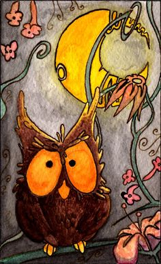 'Gufo' by Lady Shadow Little Owl, Owl Art, Diy Arts And Crafts, Mixed Media Art, Pet Birds, Illustration Art, Caricature, Drawings, Painted Owls