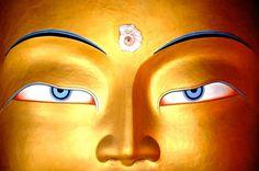 Maitreya Buddha Face Close Up, Ladakh Photography (Art Prints, Wood & Metal Signs, Canvas, T Buddhist Wisdom, Buddhist Art, Spiritual Wisdom, Tibetan Art, Tibetan Buddhism, Maitreya Buddha, Gautama Buddha, Golden Buddha, Buddha Face