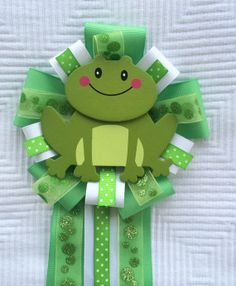 Frogs and Snails and Puppy Dog Tails Shower Corsage  on Etsy, $12.00