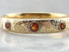 Victorian Bangle Bracelet with Spessartine Garnets